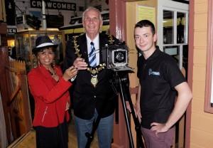 mayor and camera and Sam Burton