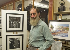 Alan, the driver and actor featured in the photos takes a final look at the exhibition on the Final Day, www.zummerzetphotography.co.uk